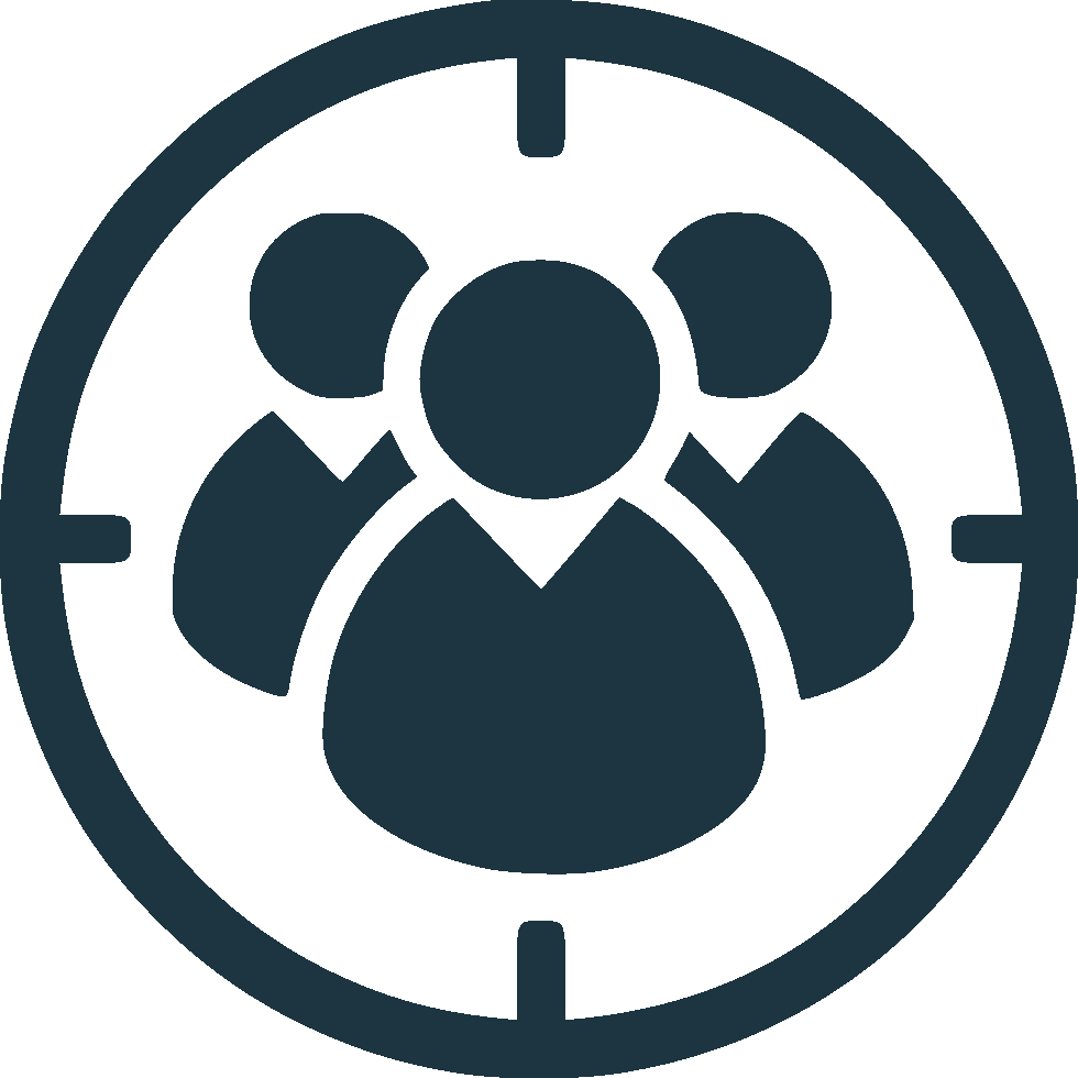 Three people in a circle icon