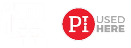Workshop icon white and PI Used here logo