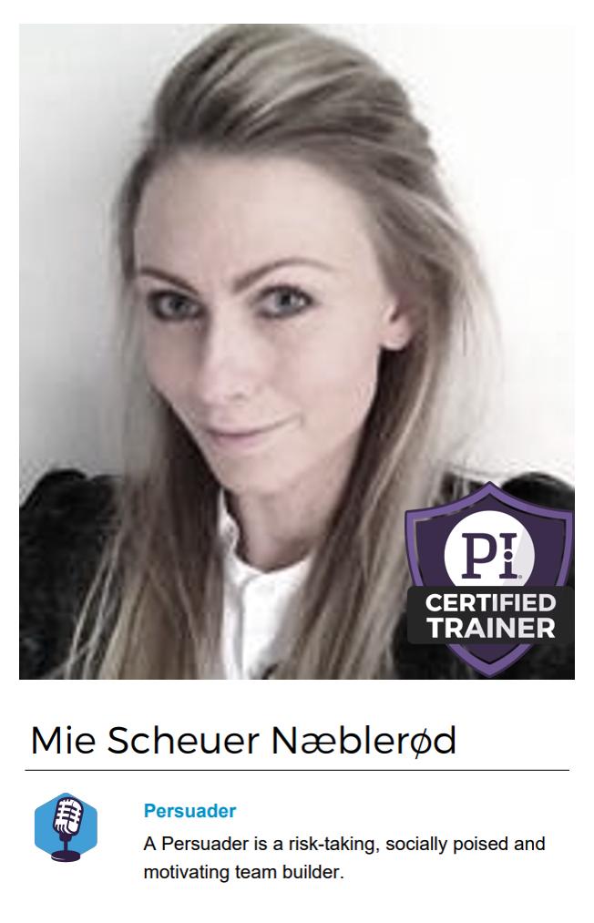 Mie Scheuer Næblerød – PI Certified Trainer