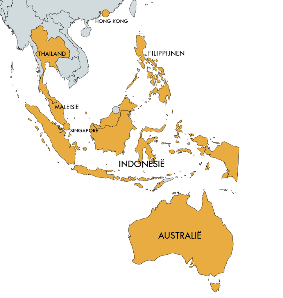 Humanostics territories South East Asia