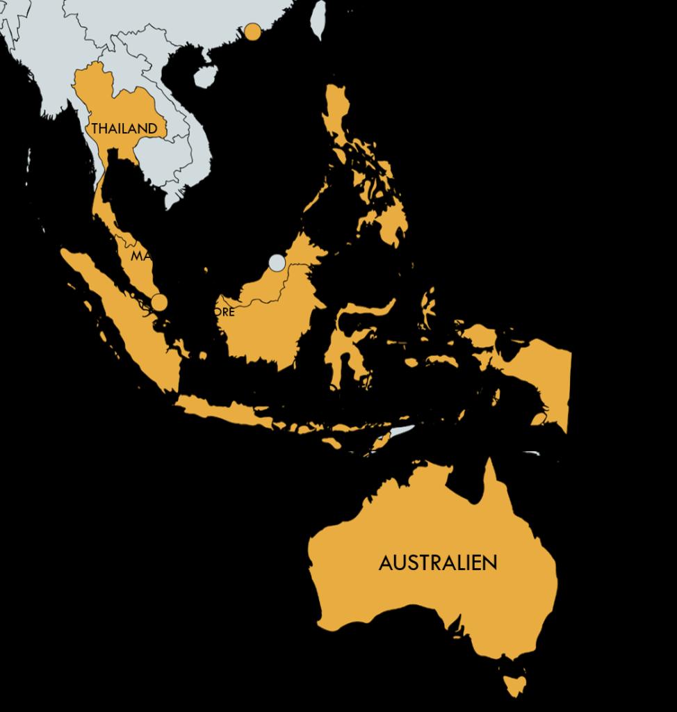 Humanostics territories South East Asia