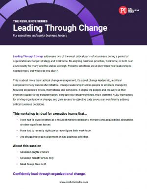 Leading Through Change workshop
